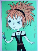 dessin personnages mylene farmer chanteuse fille star : Mylène  Farmer