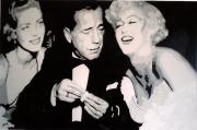 """tableau scene de genre lauren bacall humphrey bogart acteur actrice : """" BACALL - BOGART - MARILYN """""""