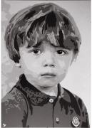 autres autres enfant pop art portrait noir et blanc : ENFANT