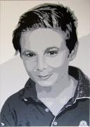 tableau autres pop art couleur gris enfant portrait : PORTRAIT