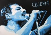 "tableau personnages groupe musical queen chanteur freddie mercury : QUEEN "" FREDDIE MERCURY """