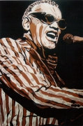 "tableau personnages chanteur ray charles musique noir : RAY CHARLES "" en concert """