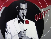 "tableau personnages cinema agent 007 james bond sean connery : JAMES BOND "" SEAN CONNERY """