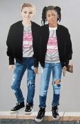 tableau personnages toile tableau filles pop art : FILLES