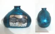 ceramique verre abstrait vase ceramique feuilles d arge coquilles d oeu laque : vase bleu céramique laque