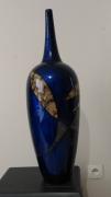 ceramique verre abstrait vase ceramique laque coquilles d oeu : Vase en céramique laqué