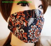 art textile mode fleurs masque tissu coton lavable reutilisable : masque modèle AFNOR 100% Coton lavable et réutilisable