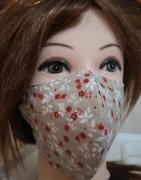 art textile mode fleurs masque tissu 100 coton lavable : masque 3D 100% Coton lavable et réutilisable