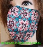 art textile mode fleurs masque tissu 100 coton lavable reutilisable : masque 3D 100% Coton lavable et réutilisable