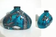 ceramique verre fleurs ceramique laque coquilles d oeu feuilles d arge : vase céramique laqué