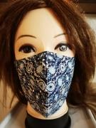 art textile mode abstrait masque tissu reutilisable lavable coton : masque 3D 100% Coton lavable et réutilisable