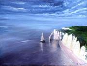tableau paysages etretat marine : Etretat