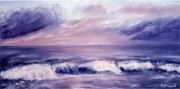 tableau marine marine recif vague : La mer en feu