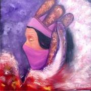 tableau personnages portrait shaman femme : Shaman women