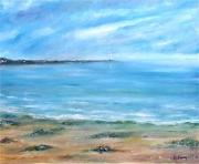 tableau marine marine normandie plage : Marine Normande