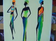 tableau personnages afrique : afrique