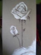 tableau fleurs : la rose