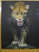 tableau animaux alsace rixheim panthere en colere : la panthere
