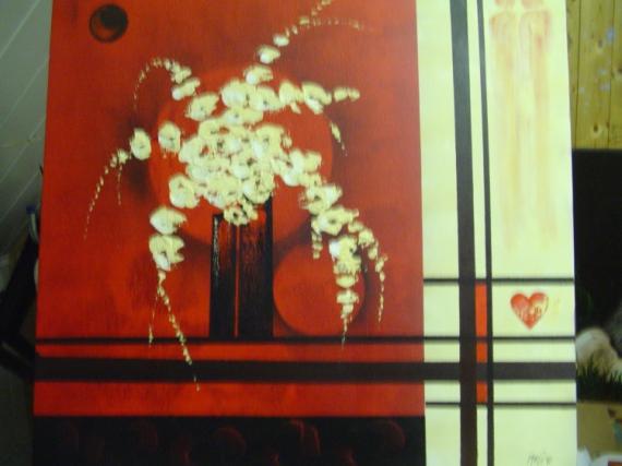TABLEAU PEINTURE Fleurs Acrylique  - orchidées