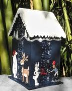 artisanat dart animaux advent calendar calendrier de l christmas calendar calendrier avent en : REF/102*Noël*Calendrier de l'Avent*Bois peint*Toit enneigé et si