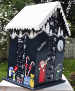 artisanat dart personnages advent calendars calendrier de l christmas bois calen calendrier avent boi : REF/110*Christmas*Calendrier de l'Avent*Bois PEINT*Toit Enneigé*