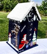 artisanat dart personnages calendar snowy wood christmas calendrier calendrier avent en : REF/105*Calendrier de l'Avent* Bois Peint*Toit Enneigé*Snowy Woo
