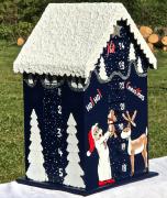 artisanat dart personnages calendar en bois christmas calendrier calendrier avent calendrier avent en : REF/107*Christmas*Calendrier de l'Avent*Bois peint*Toit Enneigé*