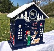 artisanat dart personnages advent calendar snowy wood calendrier avent calendrier avent boi : REF/104*Christmas*Calendrier de l'avent*Bois Peint*sur les 4 Fac