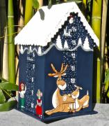 artisanat dart personnages calendar christmas calendrier dav calendrier en bois calendar bois : REF/108*Christmas*Calendrier de l'Avent*Bois Peint*Toit Enneigé*