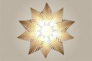 deco design fleurs lampe luminaire design bois : Luminaires ; Lampe eco design en bois, FOUGERE suspension