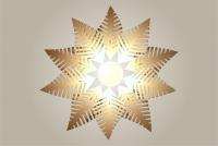 Luminaires ; Lampe eco design en bois, FOUGERE suspension