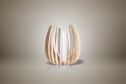 deco design fleurs lampe luminaire design bois : Luminaires ; Lampe eco design en bois, petite TULIPE sans tige