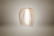 deco design fleurs lampe luminaire bois suspension : Luminaires ; Lampe eco design en bois, petite TULIPE sans tige s
