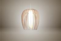 Luminaires ; Lampe eco design en bois, petite TULIPE sans tige s