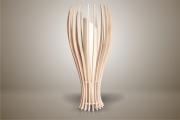 deco design fruits lampe luminaire design bois : Luminaires ; Lampe eco design en bois, Petite FIGUE à poser