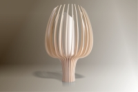 Luminaires ; Lampe eco design en bois, TULIPE petite tige