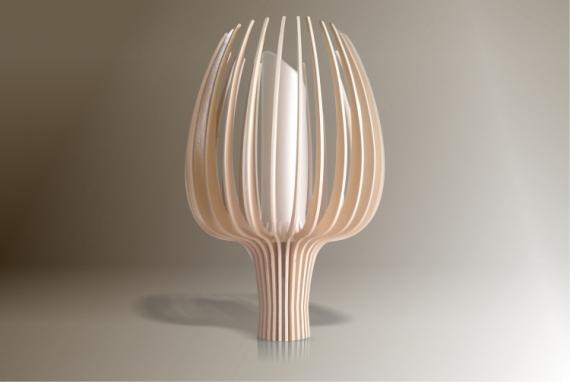 DéCO, DESIGN design lampe bois luminaire Fleurs  - Luminaires ; Lampe eco design en bois, TULIPE petite tige