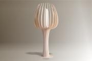 deco design fleurs lampe luminaire design bois : Luminaires ; Lampe eco design en bois, TULIPE grande tige