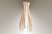 Luminaires ; Lampe eco design en bois, petite FIGUE suspension