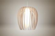 deco design fleurs : Luminaires ; Lampe eco design en bois, grande TULIPE sans tige s