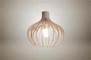deco design fleurs lampe luminaire bois suspension : Luminaires ; Lampe eco design en bois, BLEUET suspension