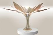 deco design fleurs lampe design bois luminaire : Luminaires ; Lampe eco design en bois, FOUGERE