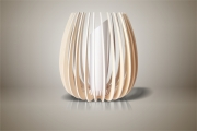 deco design fleurs lampe luminaire design bois : Luminaires ; Lampe eco design en bois, Grande TULIPE sans tige