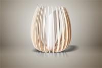 Luminaires ; Lampe eco design en bois, Grande TULIPE sans tige