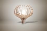 deco design fleurs lampe design bois luminaire : Luminaires ; Lampe eco design en bois, Bleuet