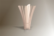 deco design fleurs lampe design bois luminaire : Luminaires ; Lampe eco design en bois, MEDUSE