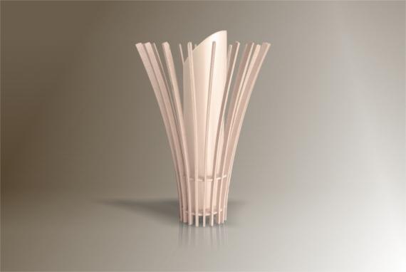 DéCO, DESIGN lampe design bois luminaire Fleurs  - Luminaires ; Lampe eco design en bois, MEDUSE