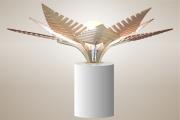 deco design fleurs lampe luminaire design bois : Luminaires ; Lampe eco design en bois, FOUGERE sans tige