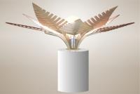Luminaires ; Lampe eco design en bois, FOUGERE sans tige