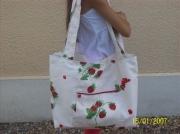 art textile mode fruits plage grand pratique gourmand : sac plage fraise